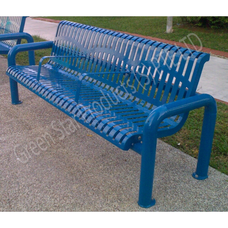 Galvanized Steel Bench & Galvanized Pipe Bench - Acpfoto